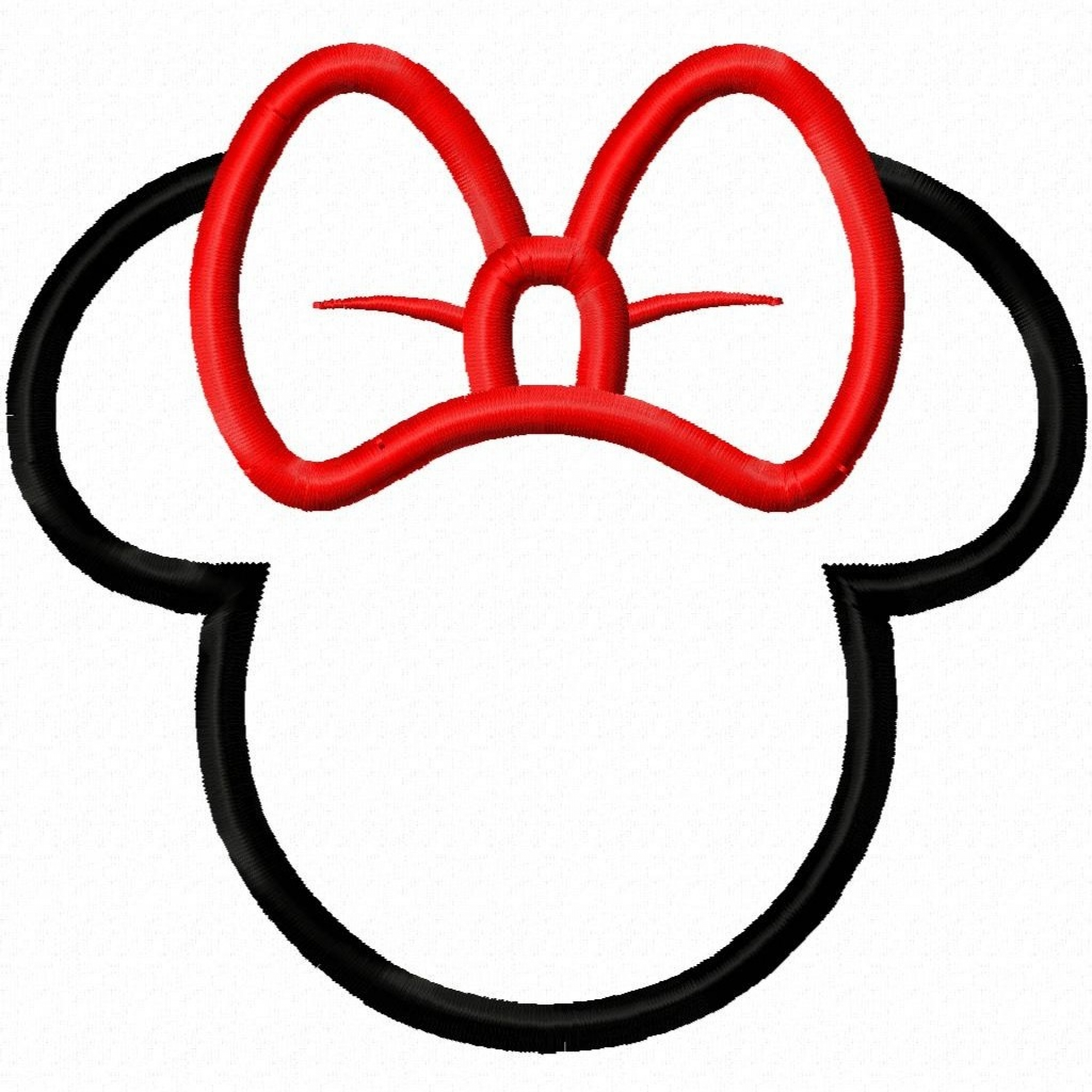 1920x1920 Minnie Mouse Silhouette Clipart Panda