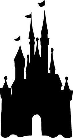 236x445 Disney Magic Kingdom Castle Silhouette White Vinyl Car