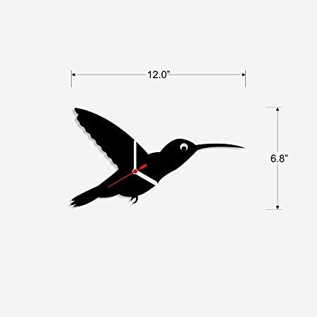 450x450 Buy Kingfisher Bird Silhouette Nursery Wall Clock For Kids Room