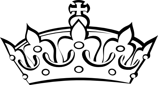 600x322 King Crown Clipart Black And White