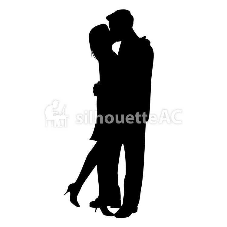 750x750 Free Silhouette Vector 2 People, Couple, Kiss