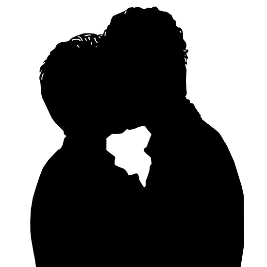 550x550 Malec First Kiss Silhouette Posters By Rebelwithacause Redbubble