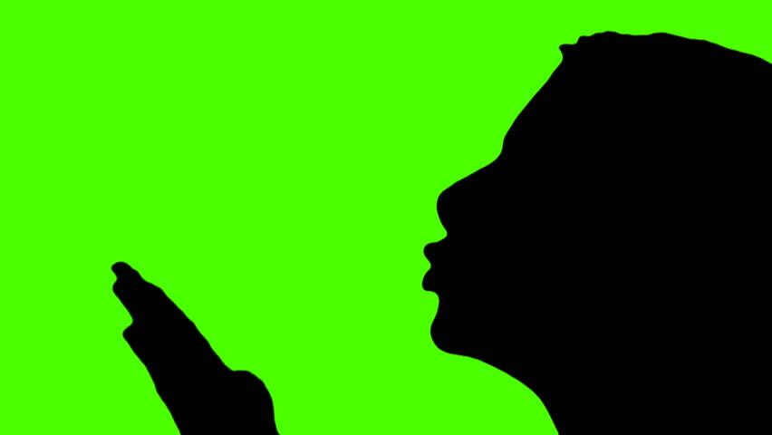 852x480 Woman Blows Kiss Silhouette