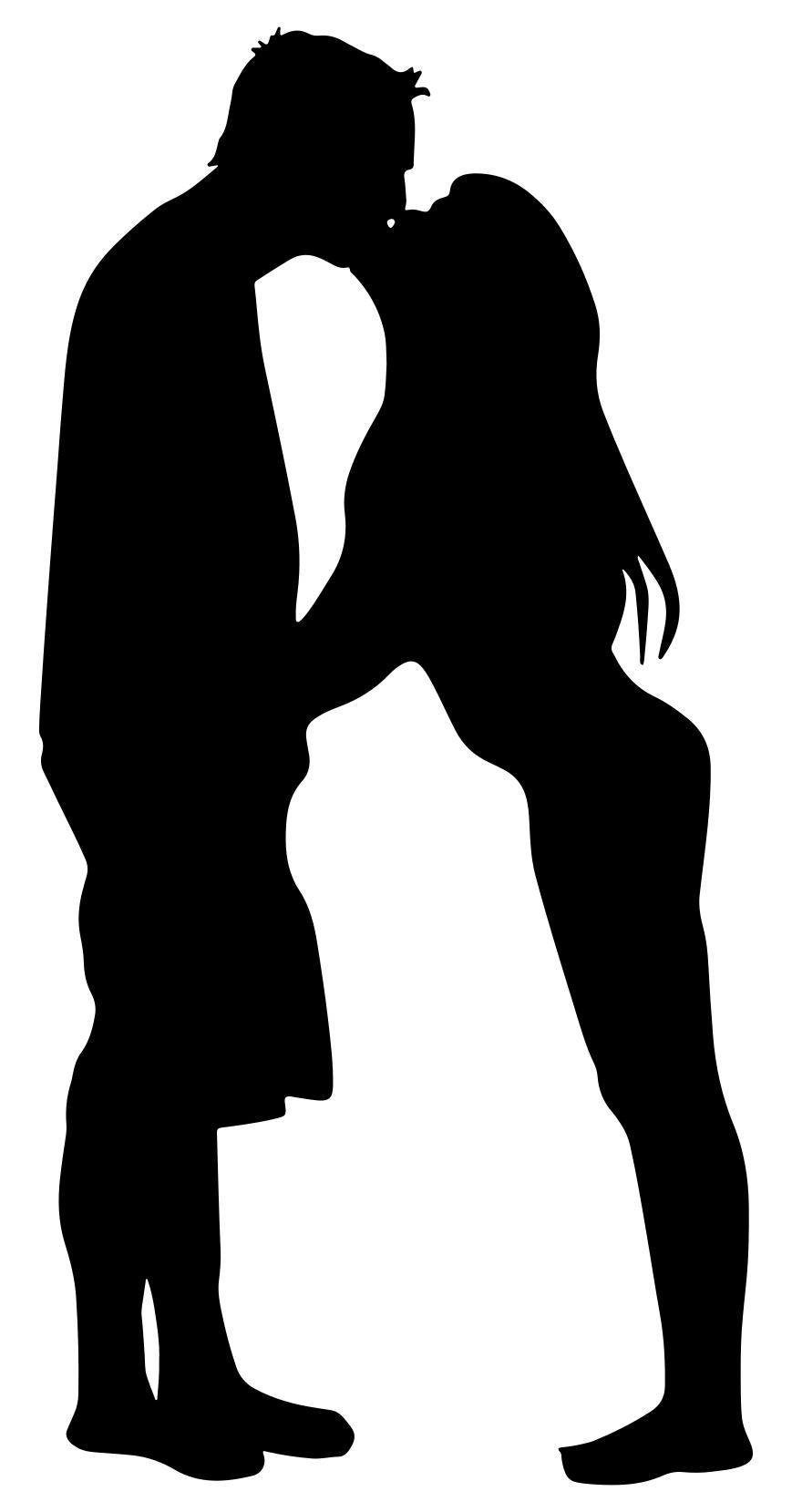 869x1659 Couple Kissing Silhouette Clipart