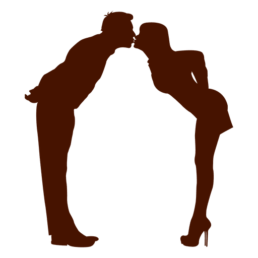 512x512 Couple Family Kiss Silhouette In Red
