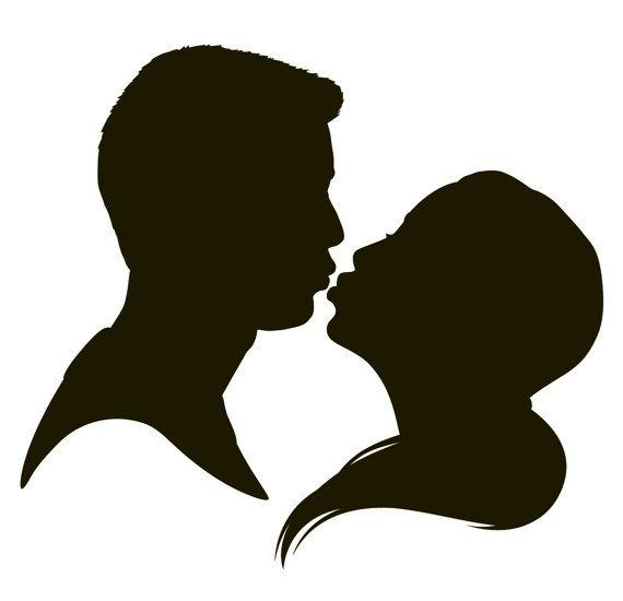 570x550 Custom Wedding Silhouette In Kissing Pose