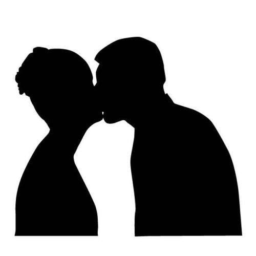 500x500 Kissing Couple Silhouette Car Decal Sticker Ebay