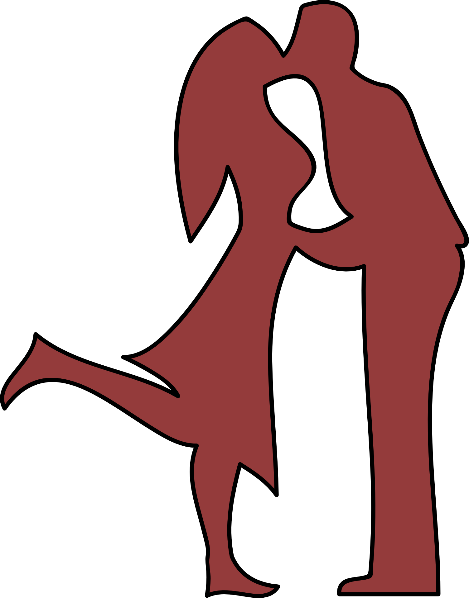 1504x1920 Silhouette Of A Kissing Couple Free Image