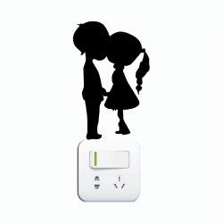 250x250 Wholesale Kg 261 Romantic Kissing Couple Silhouette Switch Sticker