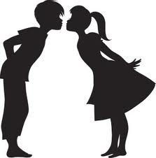 223x226 Boy And Girl Kissing Silhouette