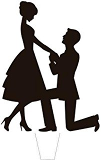 202x320 Designer Stencils Kissing Couple Silhouette Cake Stencils By