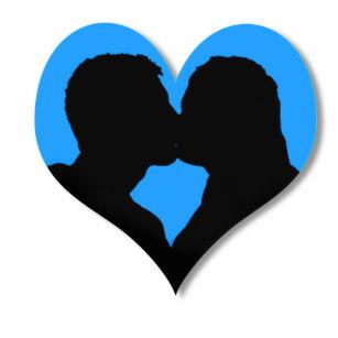 307x307 Couple Silhouette Photo Statuettes, Cutouts Amp Sculptures Zazzle