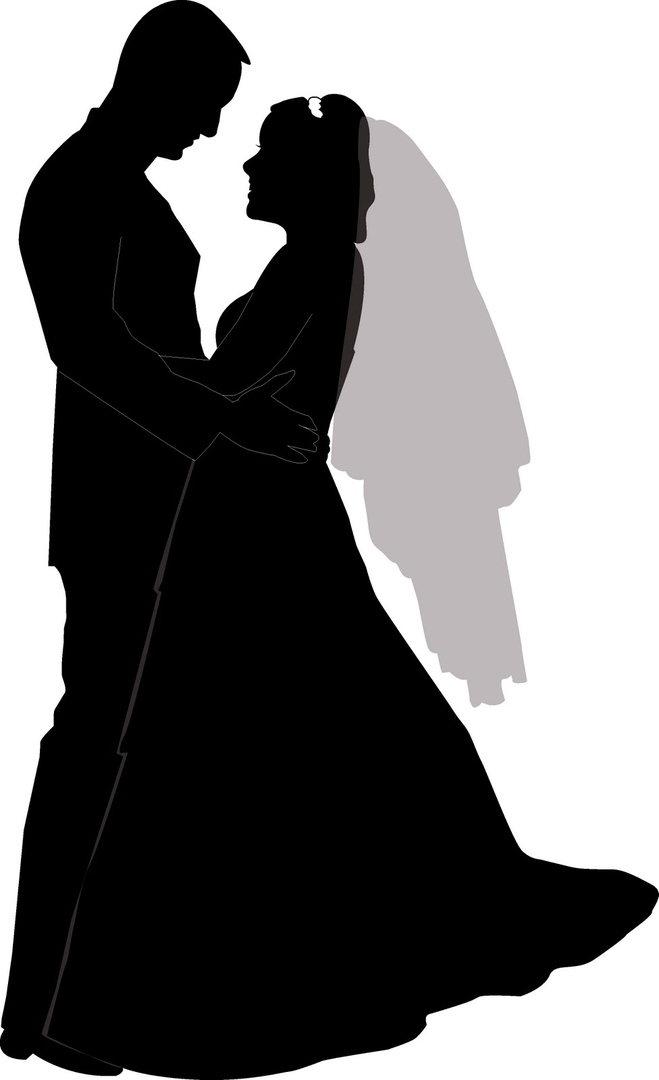 659x1080 Free Kissing Silhouette Clipart