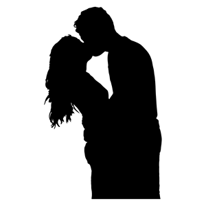 300x300 Kissing Couple Silhouette Clipart, Cliparts Of Kissing Couple