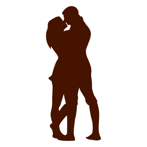 512x512 Couple Kissing Silhouette