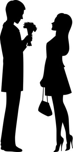 236x491 First Kiss Clipart Image Silhouette Of A First Kiss Silhouettes