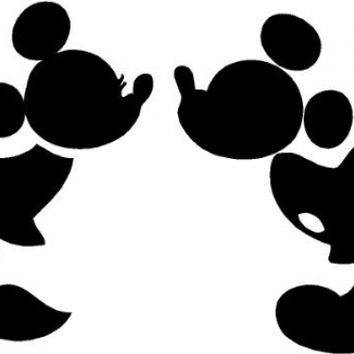 354x354 Mickey And Minnie Kissing Silhouette Cute From Amazon New