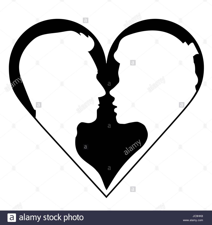 1300x1382 Profile Clipart Couple Silhouette 3821841
