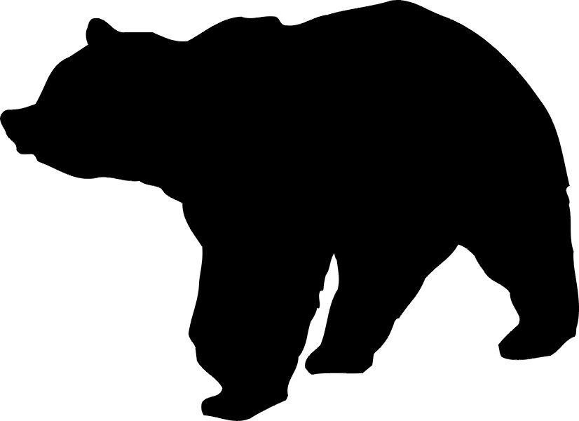826x600 Silhouette Clipart Bear