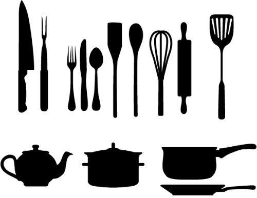 500x386 Kitchen Utensils Silhouette Vector More Kitchen Silhouette Ideas