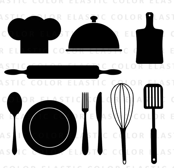 Kitchen Utensil Silhouette At Getdrawings Com Free For