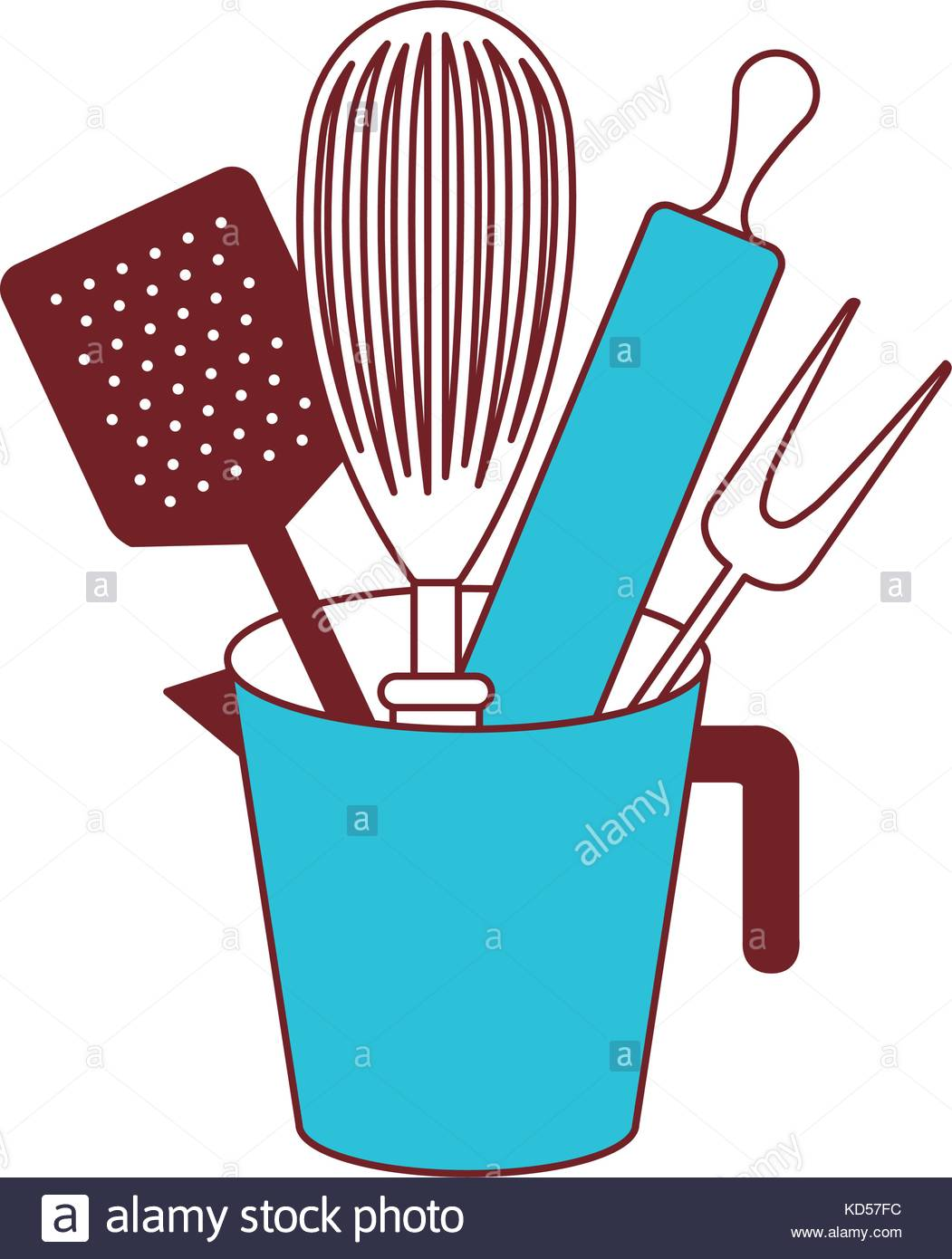 Kitchen Utensil Silhouette at GetDrawings.com | Free for personal ...