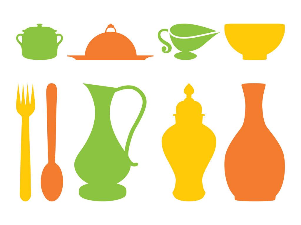 kitchen utensils vector. 1024x765 Kitchen Utensils Clipart Free Silhouette Vector