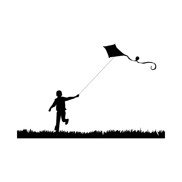 630x630 Limited Edition. Exclusive Boy Flying Kite Silhouette