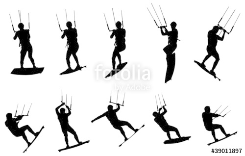 500x318 Kitesurf En Silhouette Stock Image And Royalty Free