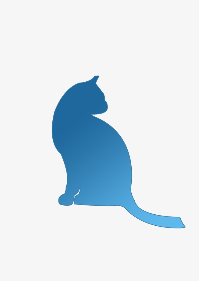 650x919 Kitten Silhouette Material, Kitten, Sketch, Png Material Png