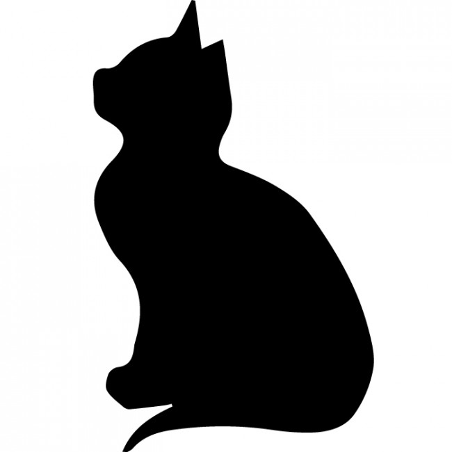 650x650 Sitting Kitten Silhouette Wall Sticker Creative Multi Pack Wall