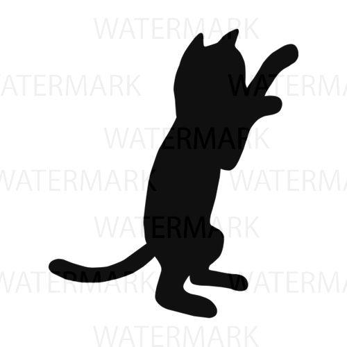500x500 Silhouette Cat Kitten B Friendship Pet Human Love Meow Paw Kitten