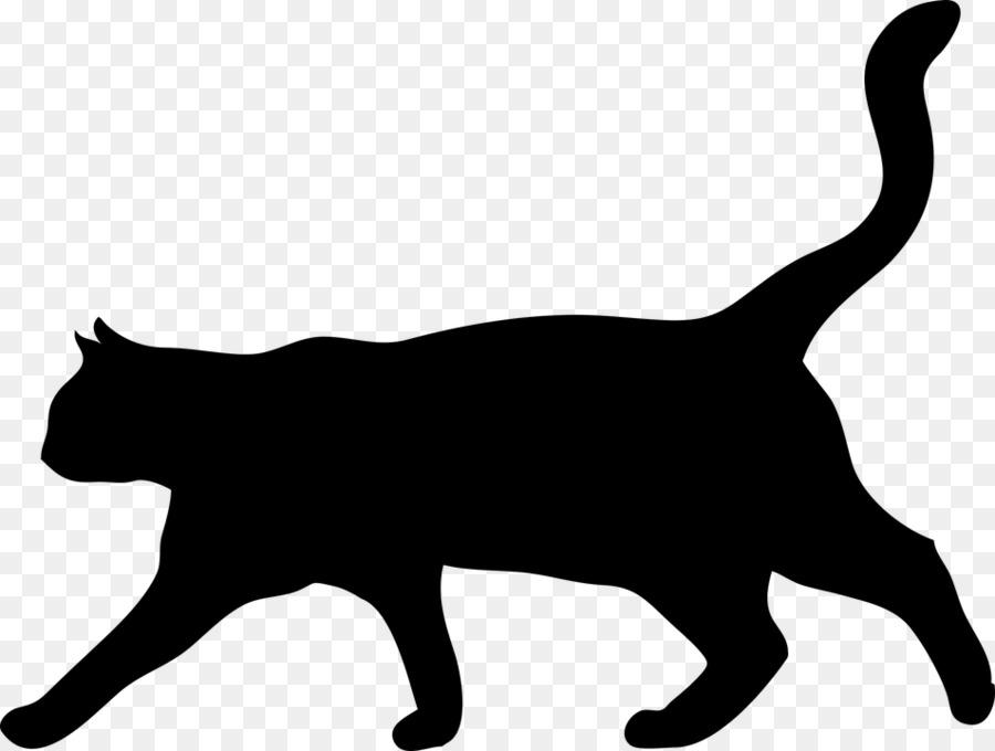 900x680 Cat Kitten Silhouette Drawing Clip Art