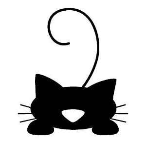 300x293 Cat Silhouette Kitten Black Cat Logo Sticker Decal Graphic Vinyl