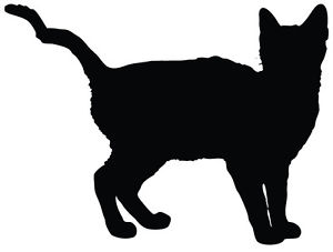 300x227 Cat Silhouette Kitten Car Decal Window Sticker