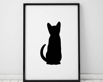 340x270 Cat Silhouette Etsy