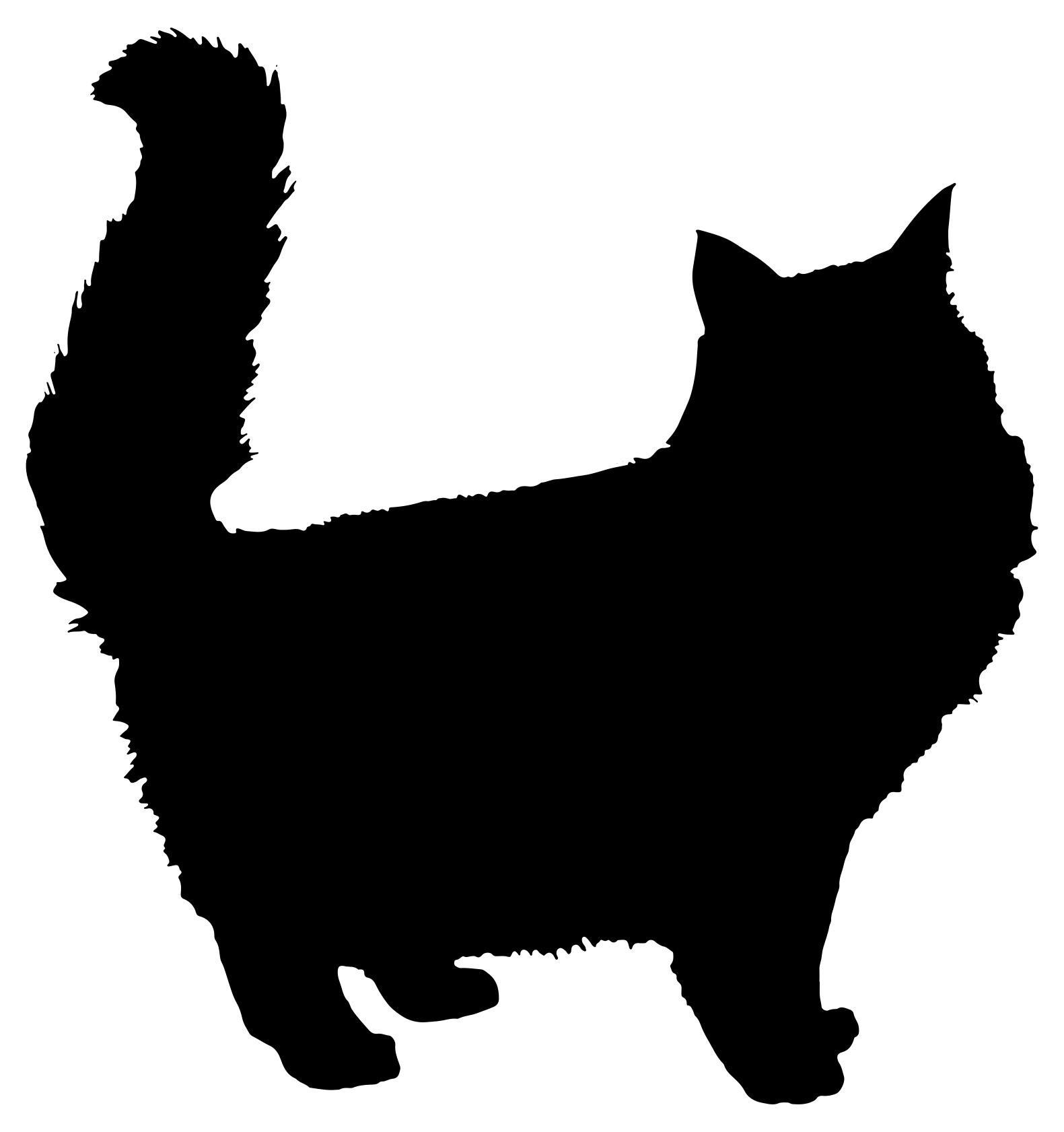 1581x1682 Fluffy Cat Silhouette Clipart