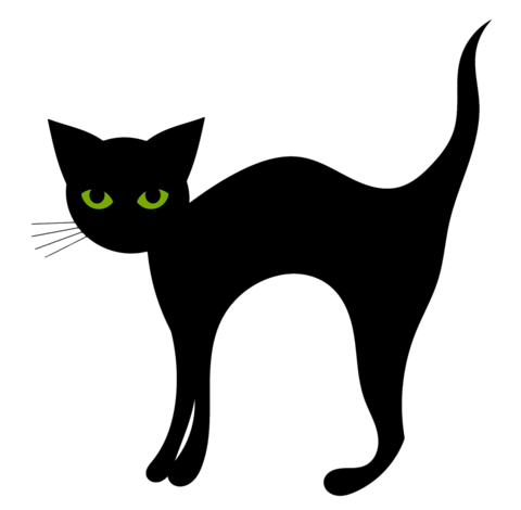 480x470 Green Eyed Kitty Silhouette Nail Art Decals (Now! 50% More Free