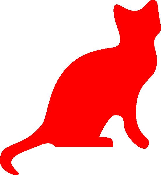 552x599 Red Cat Silhouette Clip Art