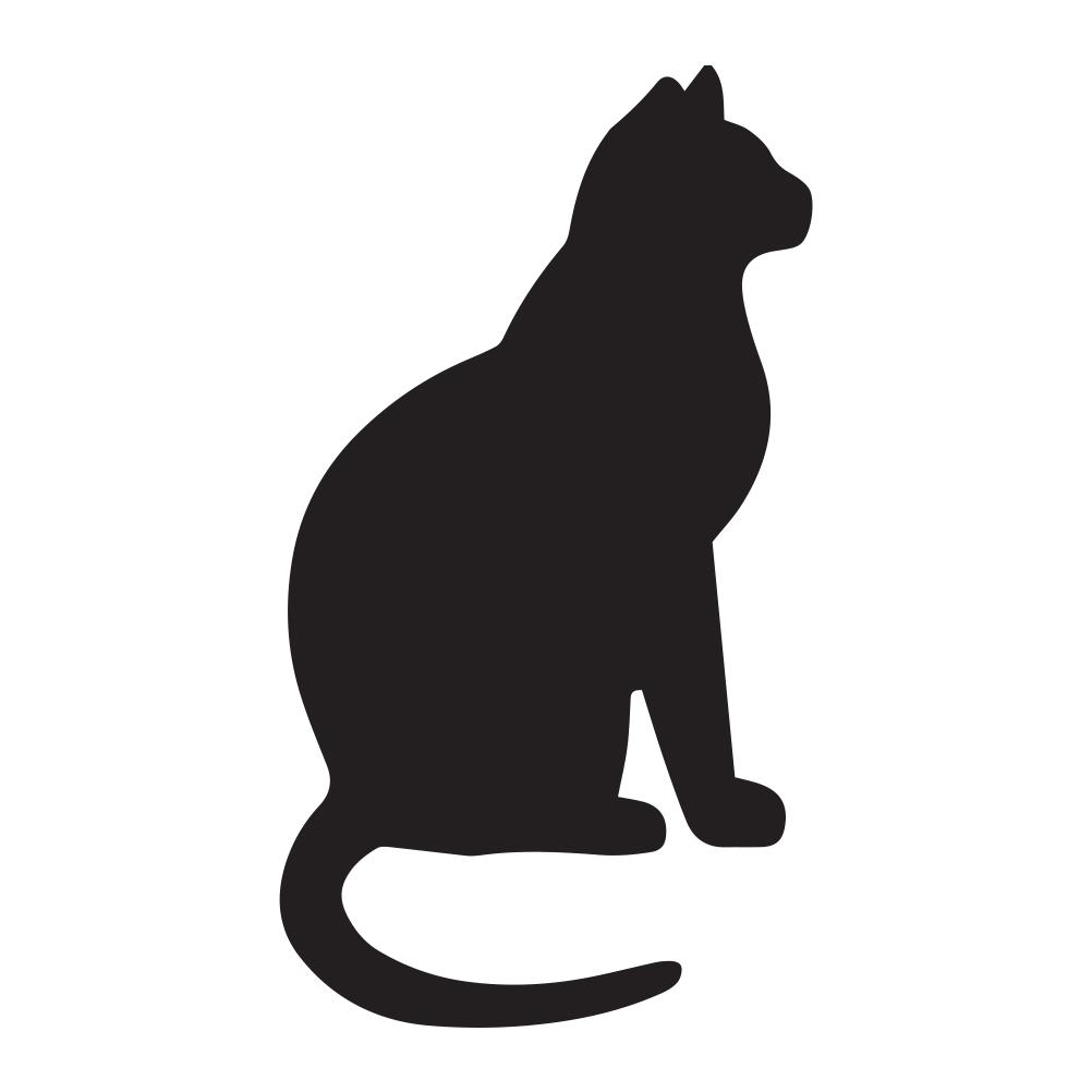 1002x1002 Cat Kitty Silhouette Vinyl Sticker Car Decal