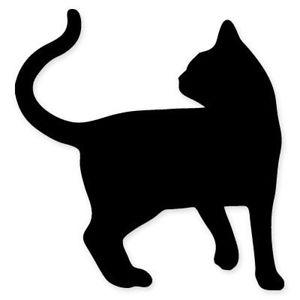 300x300 Cat Shape Black Silhouette Car Vinyl Sticker