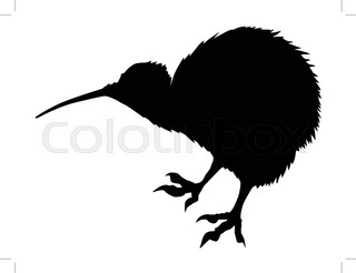 320x246 Silhouette Of A Bird Kiwi Stock Vector Colourbox