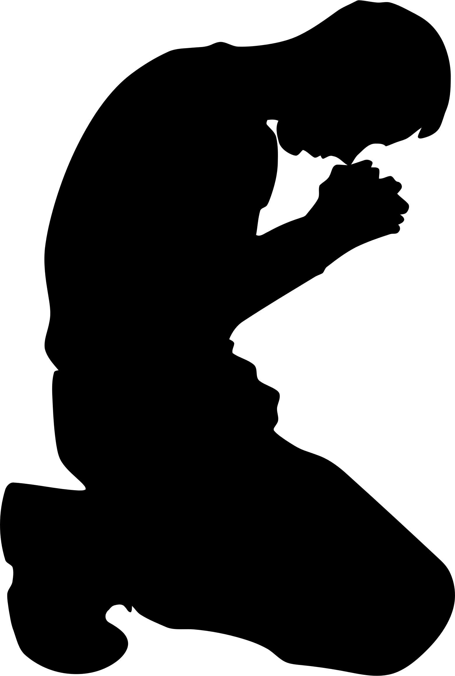 1560x2314 Man Kneeling In Prayer Minus Ground Silhouette