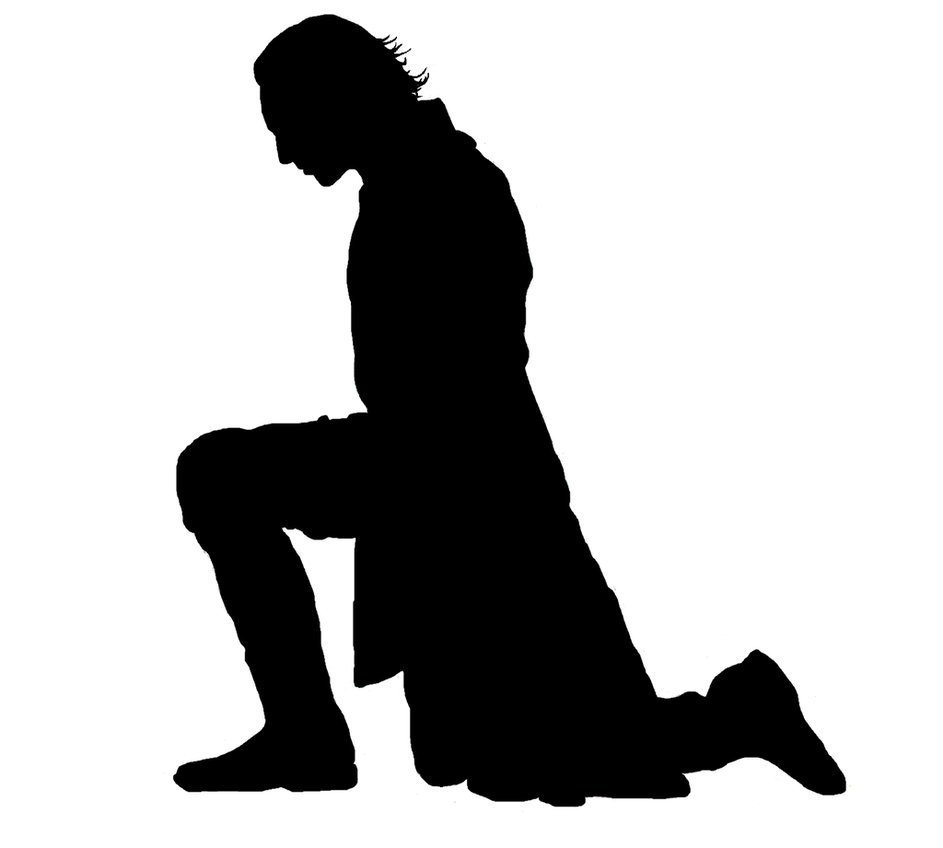 943x848 Loki Kneeling Silhouette by the nature author on DeviantArt