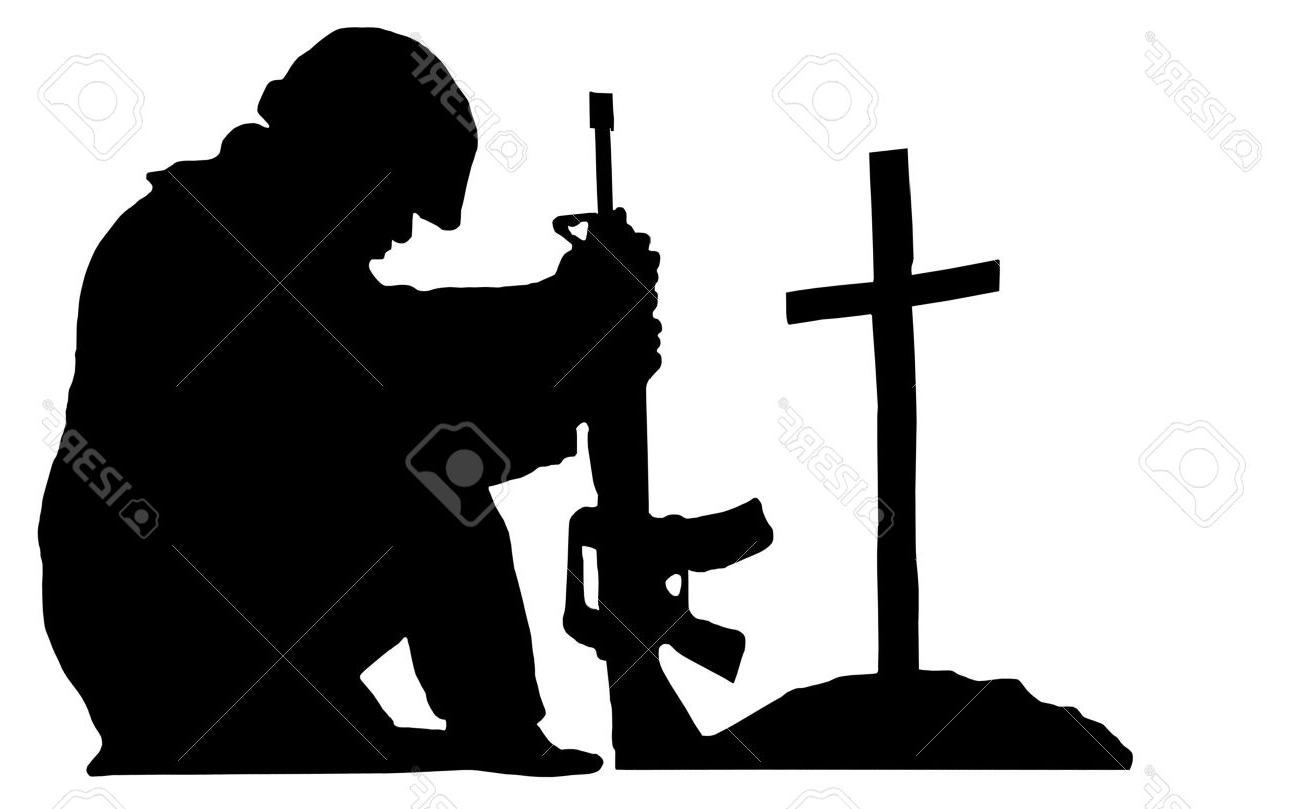 1300x809 Best 15 Silhouette Of Soldier Kneeling Next To The Grave Friend