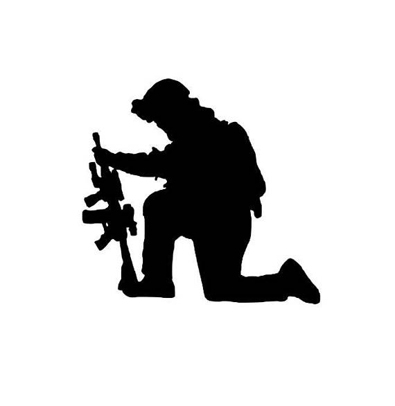 570x586 Items Similar To Kneeling Soldier Graphic On Etsy