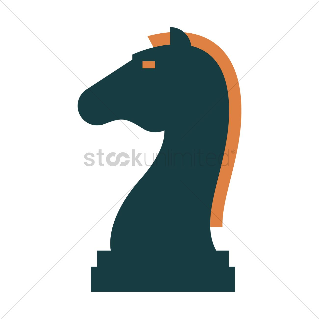 1300x1300 Knight Chess Piece Icon Vector Image