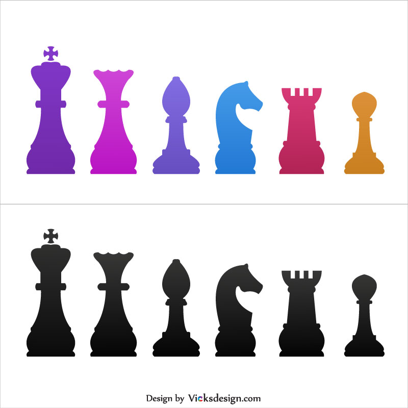 800x800 Piecessymbols Illustration, King And Queen, Bishop, Knight, Rook