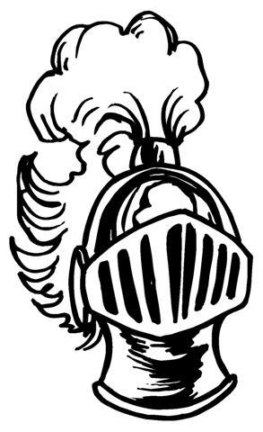 293x480 Knight Helmet 2 Decal Sticker