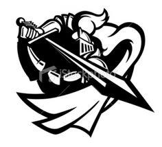 236x214 Knight On Horse Logo For Knight Helmet Logo. Silhouette Cameo